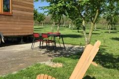 Mobilier de jardin en bois de la Tiny House