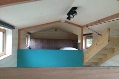 Chambre en mezzanine de la Tiny House